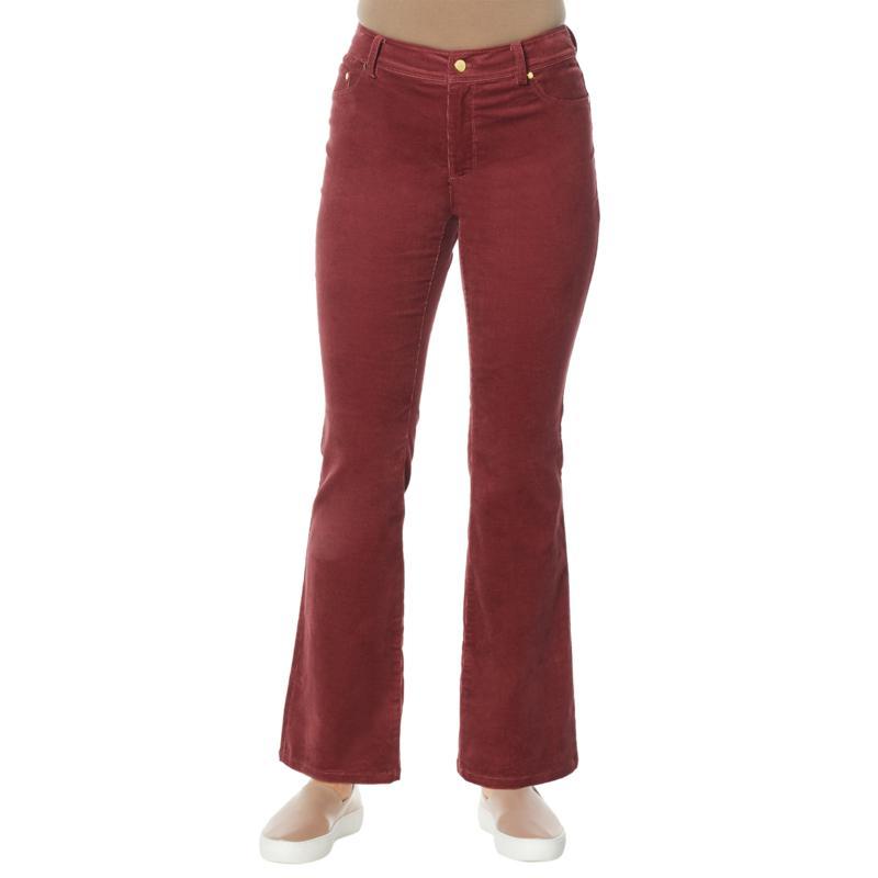 IMAN Global Chic Flare-Leg Corduroy Pant