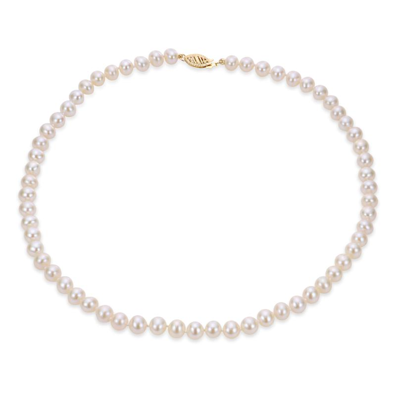 "Imperial Pearls 16"" 14K 6-6.5mm Cultured Freshwater Pearl Necklace"
