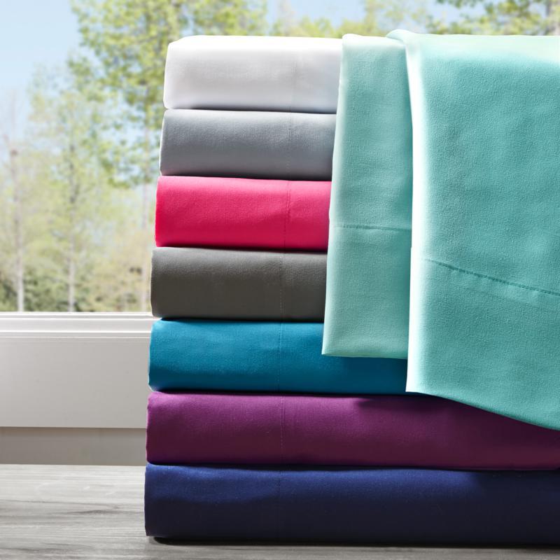 Intelligent Design All Season Wrinkle-Free Sheet Set - Queen/Purple