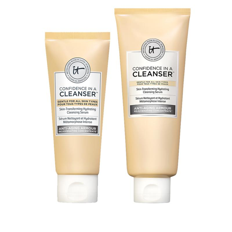 IT Cosmetics Confidence in a Cleanser Serum and Travel Size Duo