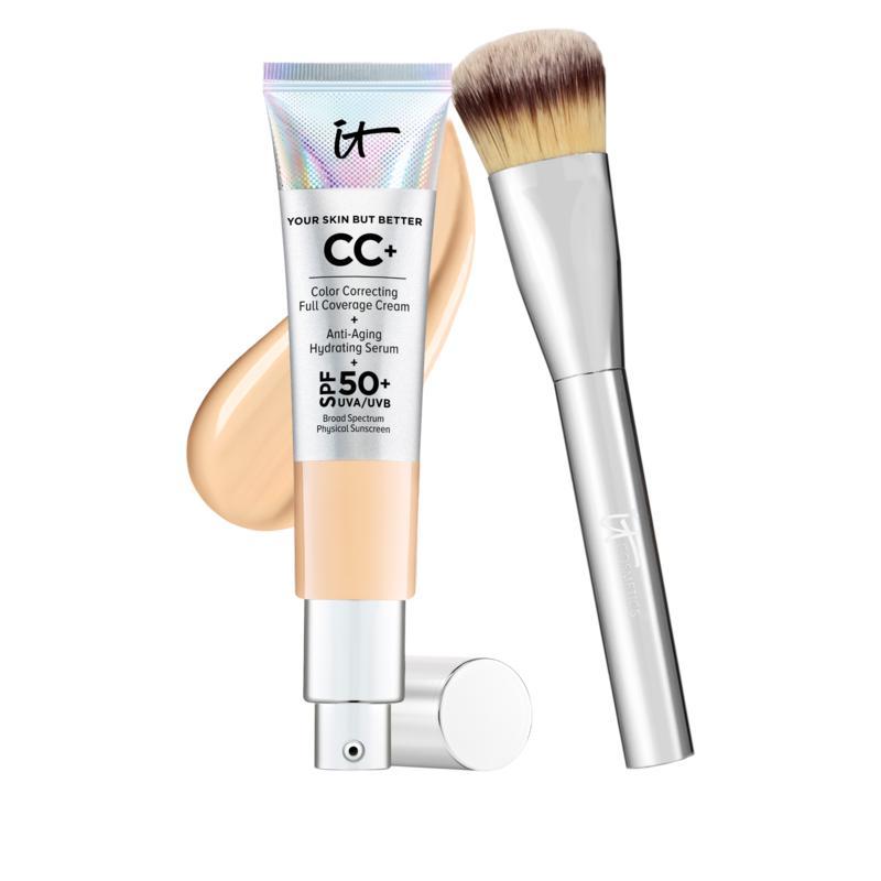 IT Cosmetics Medium Full Coverage SPF 50 CC Cream with Plush Brush