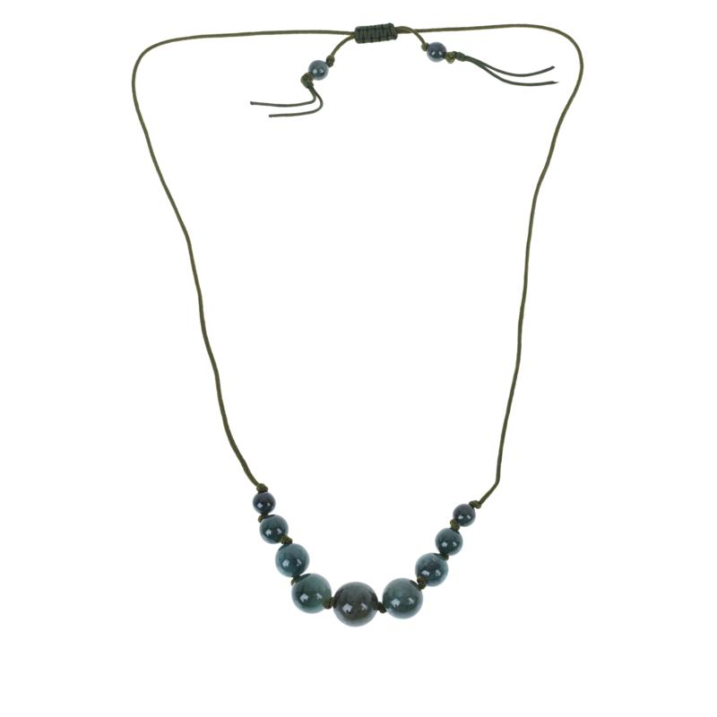Jade of Yesteryear Jade Graduated Adjustable Cord Necklace