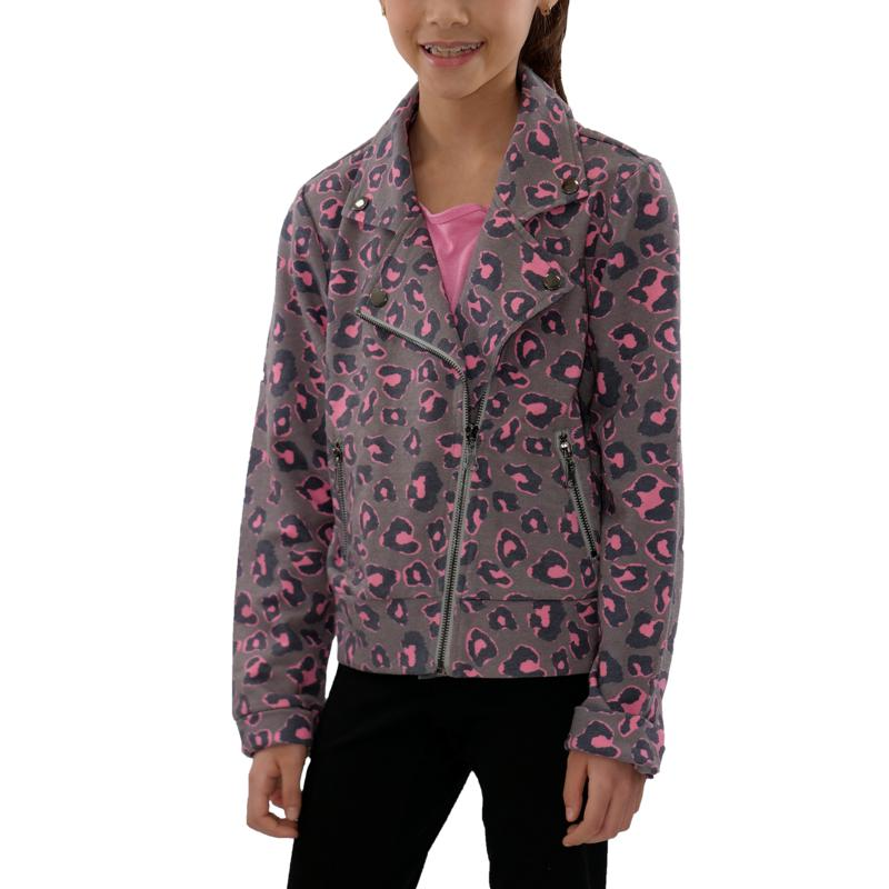 Jake and Anna French Kids' Terry Moto Jacket