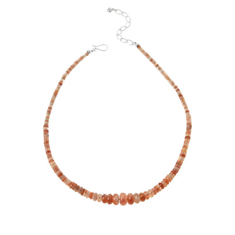 "Jay King 18"" Raspberry Sunstone Beaded Necklace"