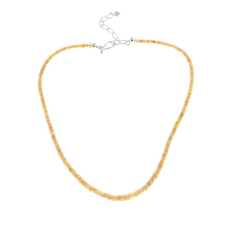 """Jay King Ethiopian Golden Opal Bead 18-1/4"""" Sterling Silver Necklace"""