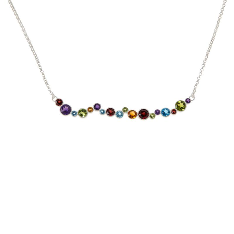 Jay King Gallery Collection Multi-Color Multi-Gemstone Chain Necklace