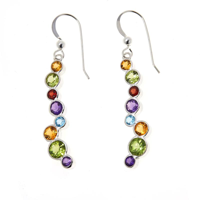 Jay King Gallery Collection Multi-Color Multi-Gemstone Earrings