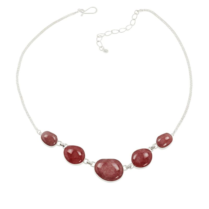 Jay King Gallery Collection Rhodochrosite Multi-Station Necklace