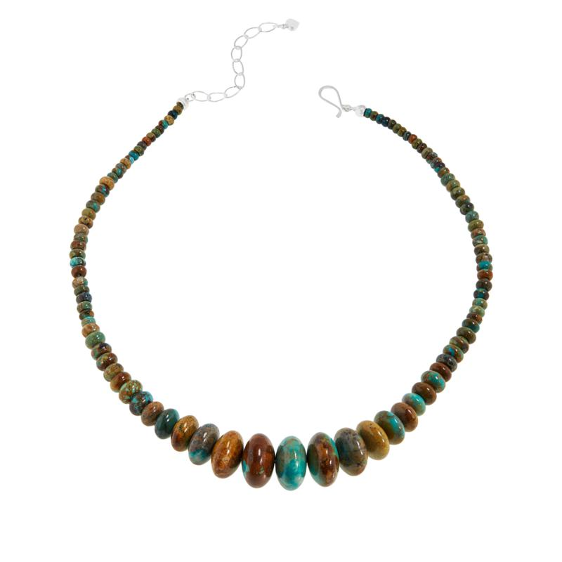 Jay King Golden Dragon Mountain Turquoise Bead Graduated Necklace