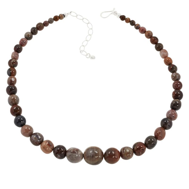 Jay King Multi-Color Petrified Wood Bead Necklace