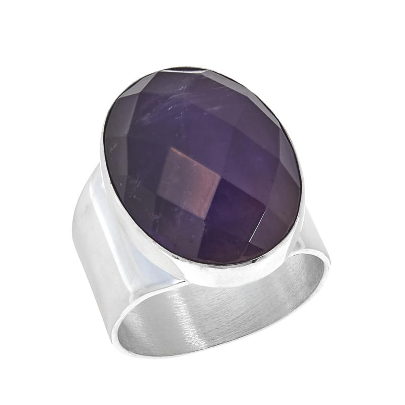 Jay King Oval Amethyst Sterling Silver Ring