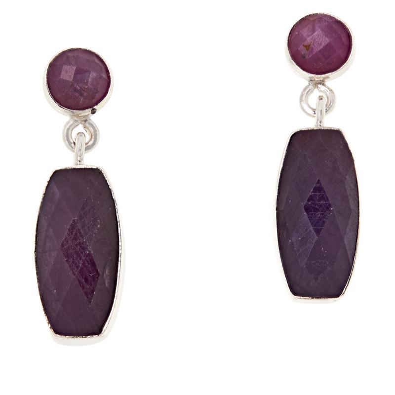 Jay King Purple Sapphire Sterling Silver Drop Earrings