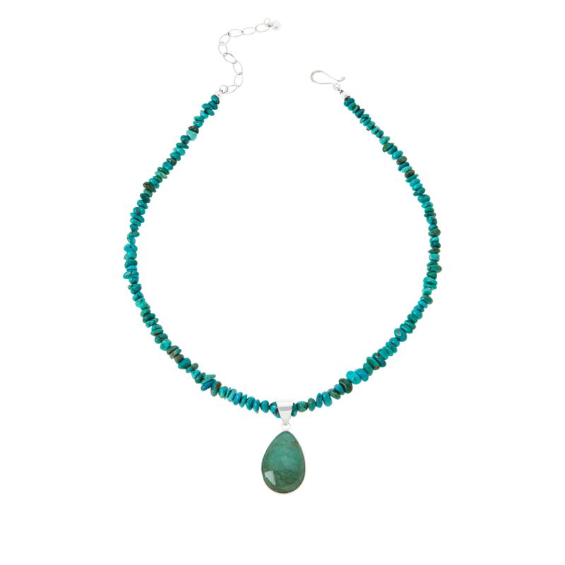 Jay King Royal Blue and Green Turquoise Reversible Pendant-Necklace