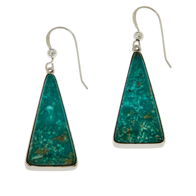 Jay King Sterling Silver Alicia Turquoise Triangular Drop Earrings