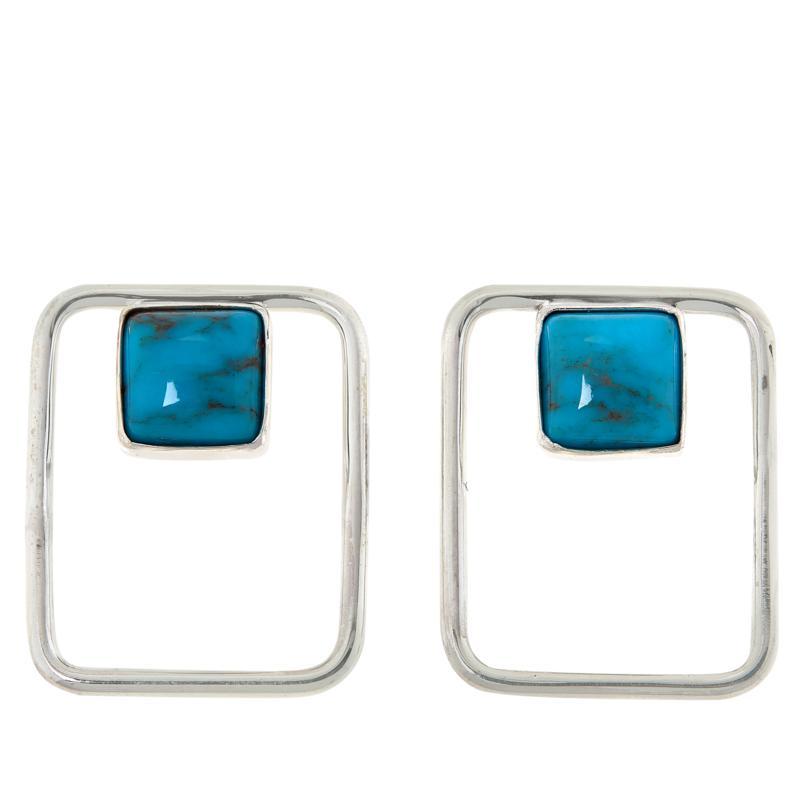 Jay King Sterling Silver Angel Peak Turquoise Earrings