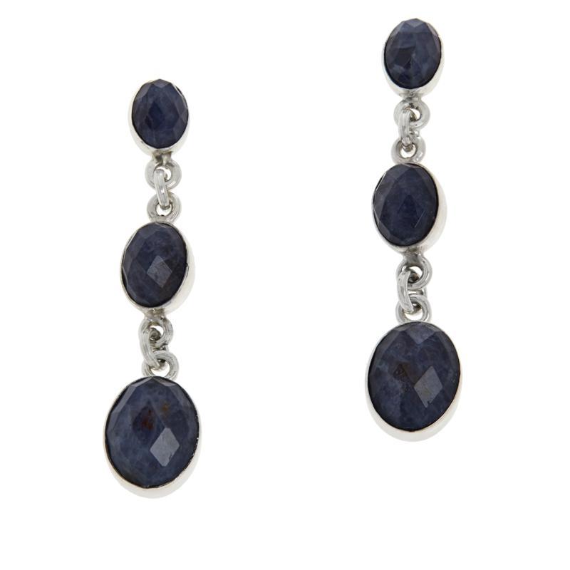 Jay King Sterling Silver Blue Moonstone Drop Earrings