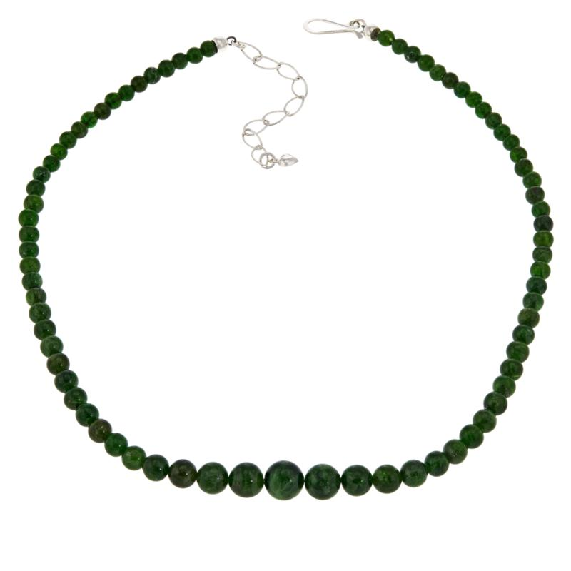 Jay King Sterling Silver Chrome Diopside Beaded Necklace