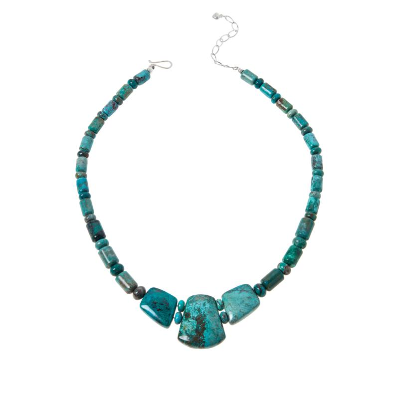 Jay King Sterling Silver Chrysocolla Collar Necklace