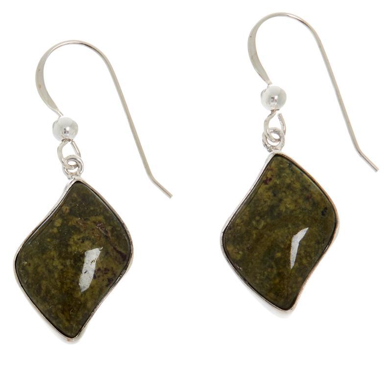 Jay King Sterling Silver Cinnamon Stone Earrings