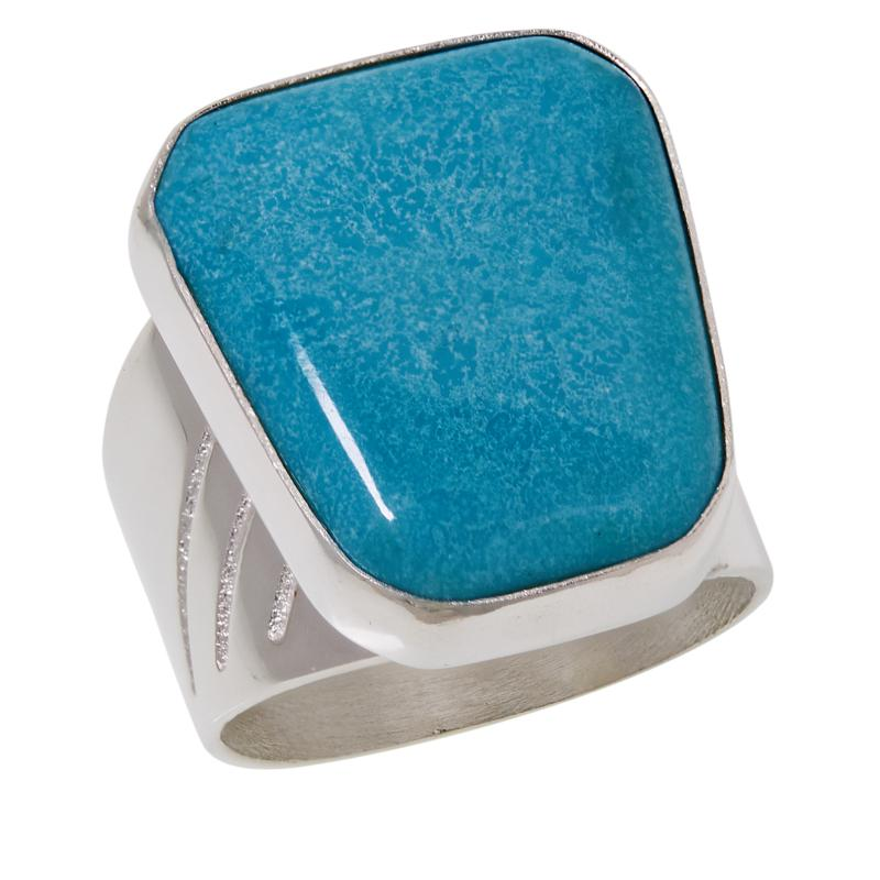 Jay King Sterling Silver Cloudy Mountain Turquoise Geometric Ring