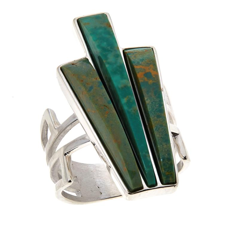 Jay King Sterling Silver Green Alicia Turquoise Ring