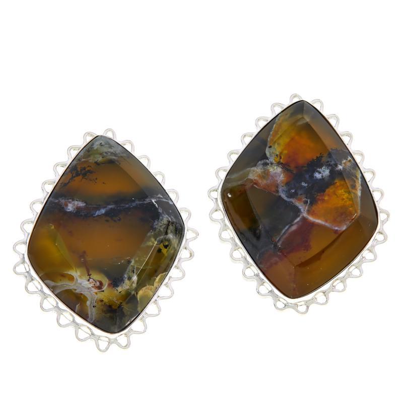 Jay King Sterling Silver Green Goddess Opal Marquise-Shape Earrings