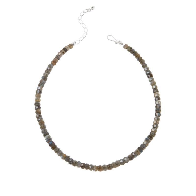 Jay King Sterling Silver Labradorite Bead Necklace
