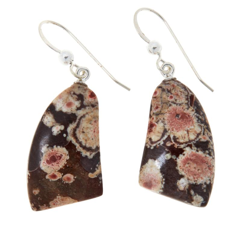Jay King Sterling Silver Multi-Color Shitake Stone Drop Earrings