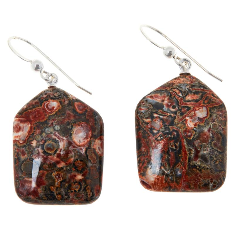 Jay King Sterling Silver Multi-Color Volcanic Quartzite Drop Earrings
