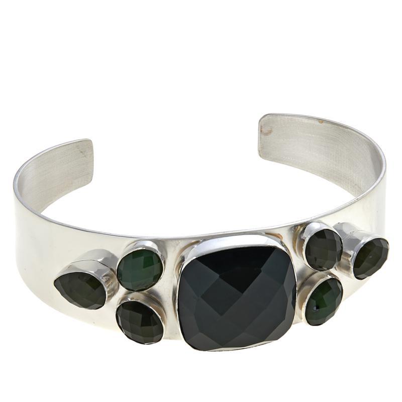 Jay King Sterling Silver Nephrite Jade Cuff Bracelet