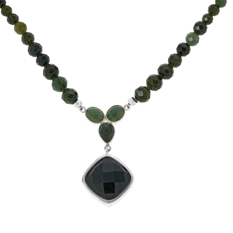 Jay King Sterling Silver Nephrite Jade Necklace