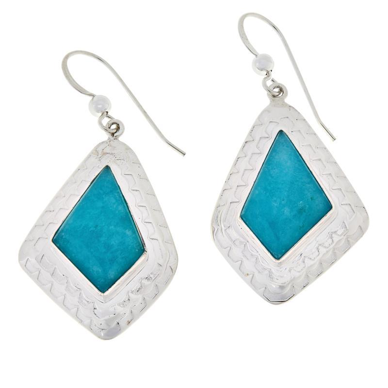 Jay King Sterling Silver Peruvian Amazonite Drop Earrings
