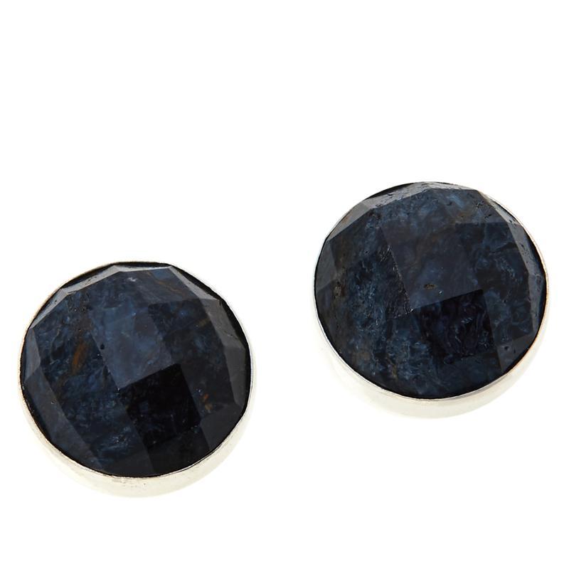 Jay King Sterling Silver Pietersite Button Earrings