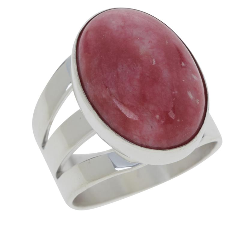 Jay King Sterling Silver Pink Thulite Oval Ring