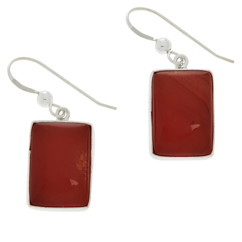 Jay King Sterling Silver Red Chalcedony Earrings