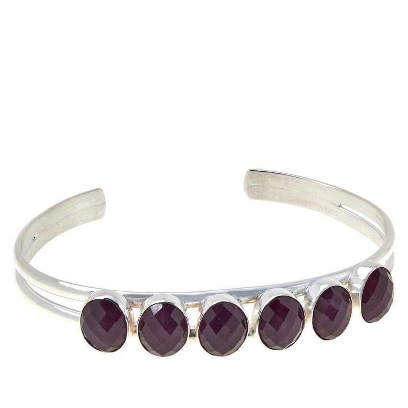 Jay King Sterling Silver Ruby 6-Stone Cuff Bracelet