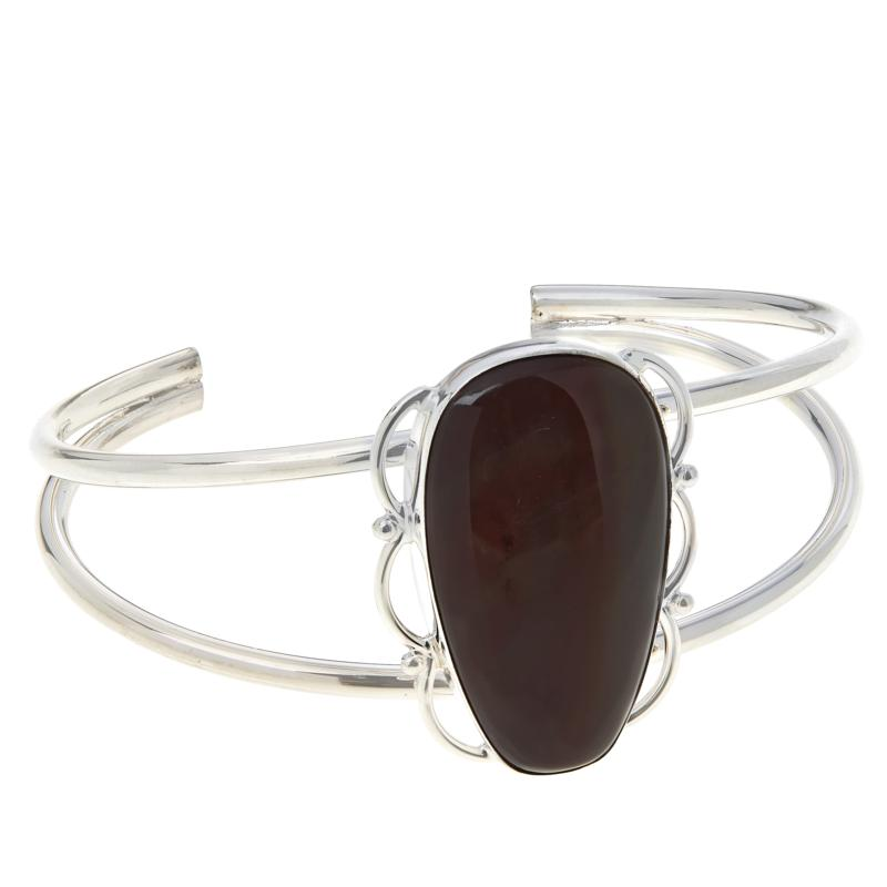 Jay King Sterling Silver Shaanxi Spice Agate Cuff Bracelet