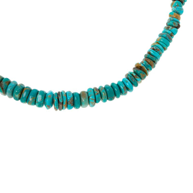 Jay King Sterling Silver Tyrone Turquoise Graduated Bead Necklace