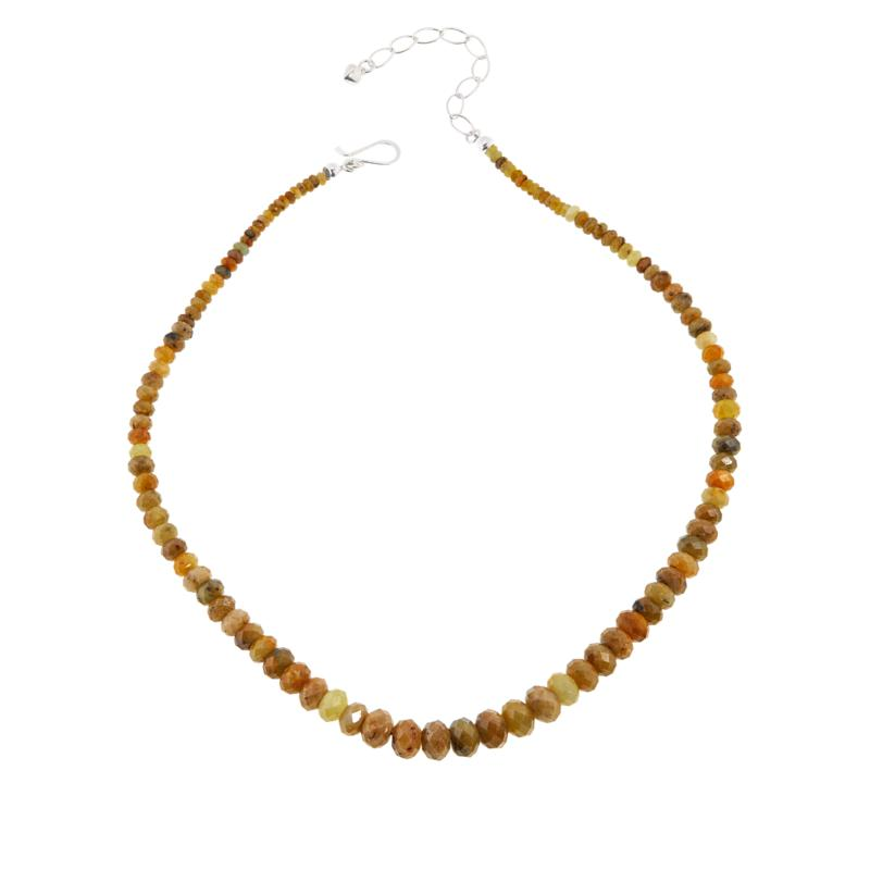 Jay King Sterling Silver Yellow Sapphire Bead Necklace
