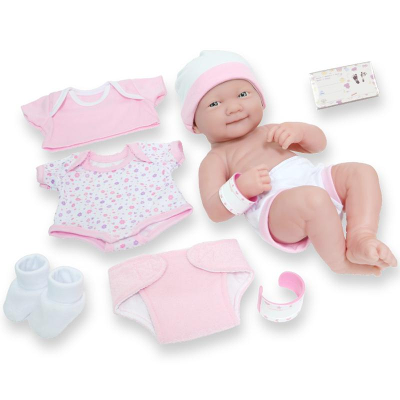 "JC Toys La Newborn Nursery 14"" Smiling Life-Like Baby Doll Gift Set"