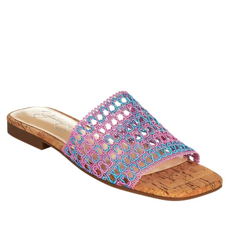 Jessica Simpson Rilane Stretch Crochet Slide