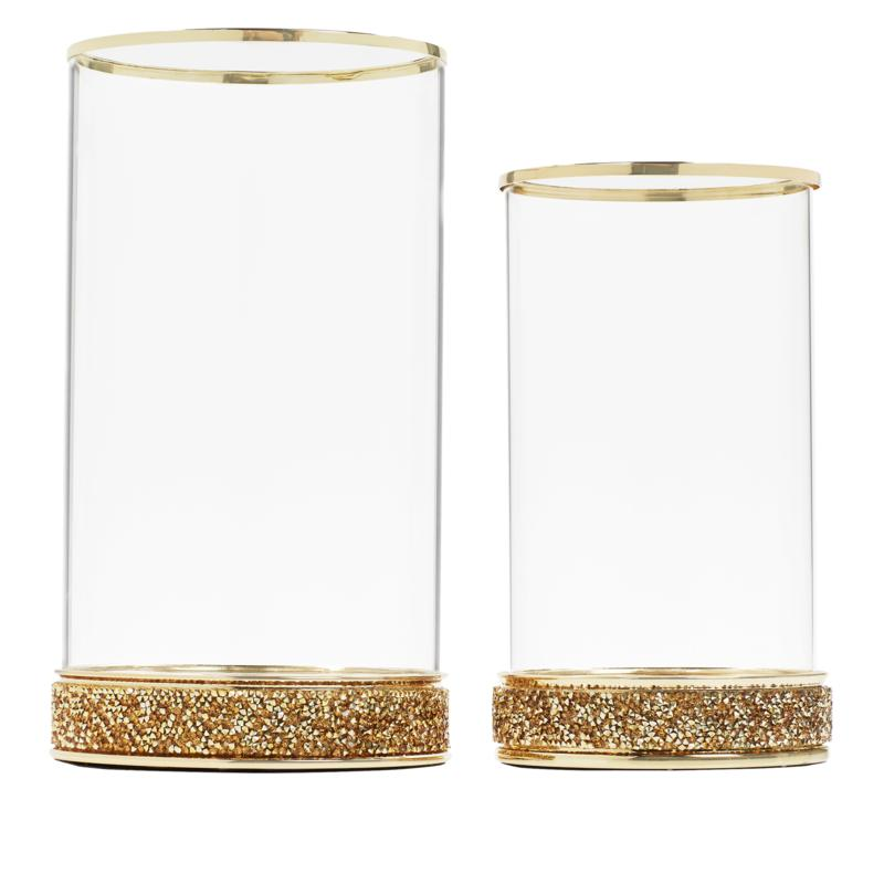 JM by Julien Macdonald Set of Two Hurricane Candle Holders
