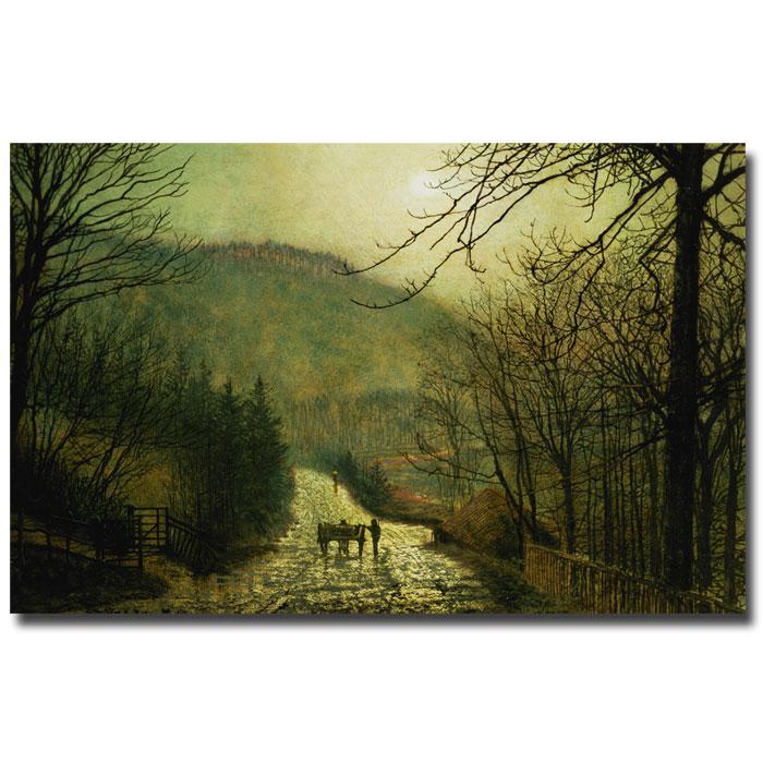 "John Grimshaw 'Forge Valley' Canvas Print - 24"" x 18"""