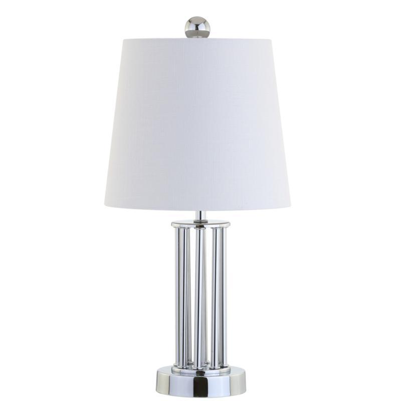 """JONATHAN Y Chrome Lillian 18"""" Metal Mini LED Table Lamp"""