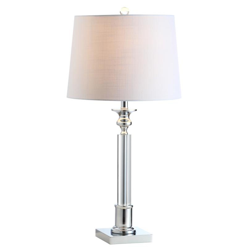 "Jonathan Y Dean 28""    Crystal LED Table Lamp - Clear and Chrome-Tone"