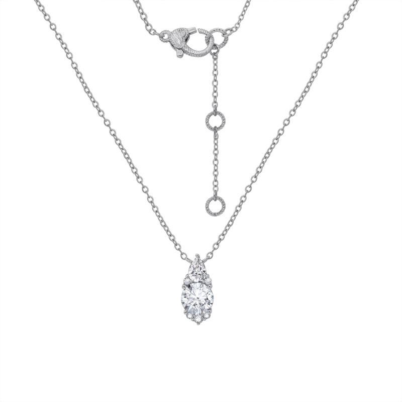 Judith Ripka Sterling Silver Diamonique® Simulated Diamond Necklace