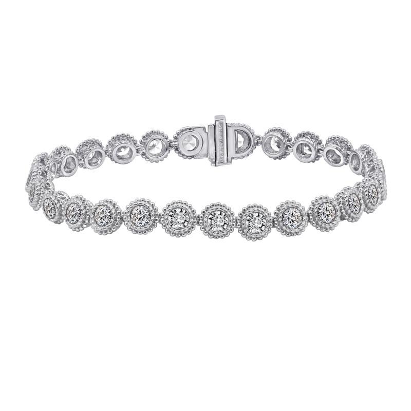 Judith Ripka Sterling Silver or Gold-Clad Diamonique® Tennis Bracelet