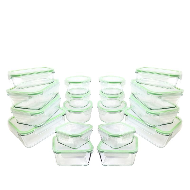 Kinetic 36-piece Glasslock Food Storage Set