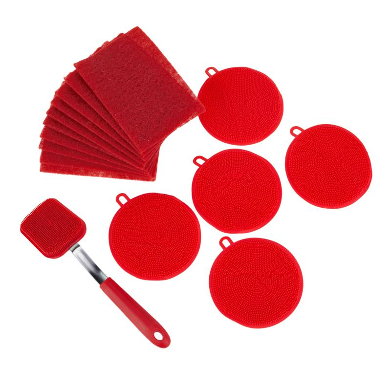 Kitchen HQ 16-piece Silicone Cleaning Set