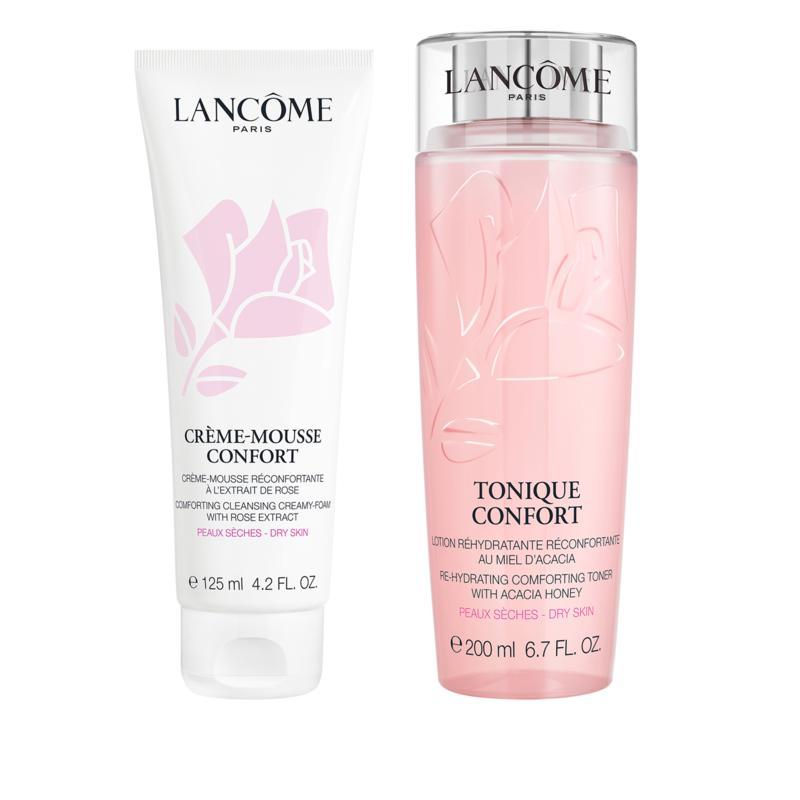 Lancôme Confort Toner and Creamy Foam Cleanser